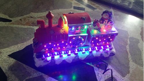 Tren De Navidad Ideal Para Villas Con Luces  Bellísimo