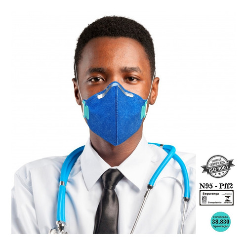 Kit 10 Máscaras N95 Proteção Respiratória Pff2 Reutilizável