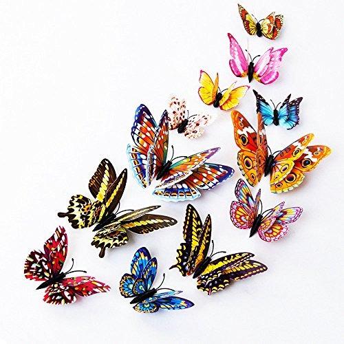 Dagou 12 Mariposas En 3d Para Pared Decoraciones