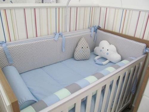 Set De Cuna Para Bebés: Edredón+ Protectores+sabanas+cojín