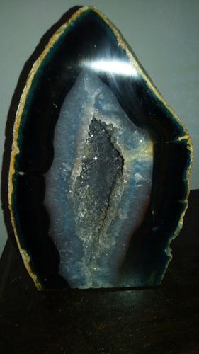 Hermosa Geoda Grande Azulada De 3,0kg Aprox.