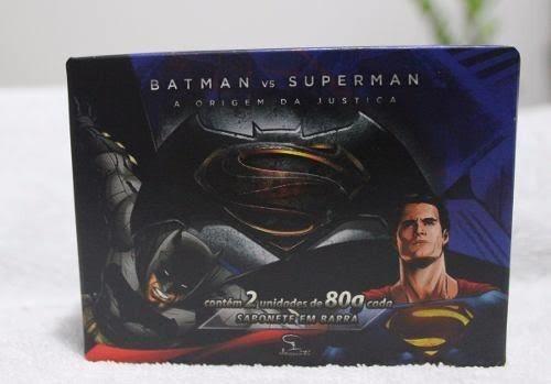Caixa C/ 2 Sabonetes - Batman X Superman  Jequiti