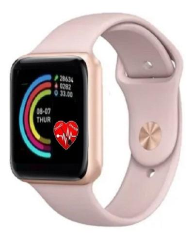 Reloj Inteligente Smart Watch Para Mujer Oro Rosa