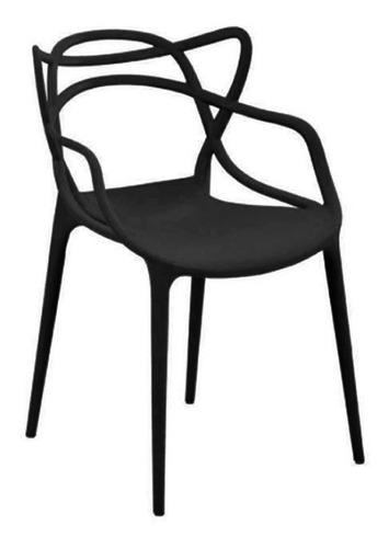 Kit 8 Cadeiras Allegra Preta