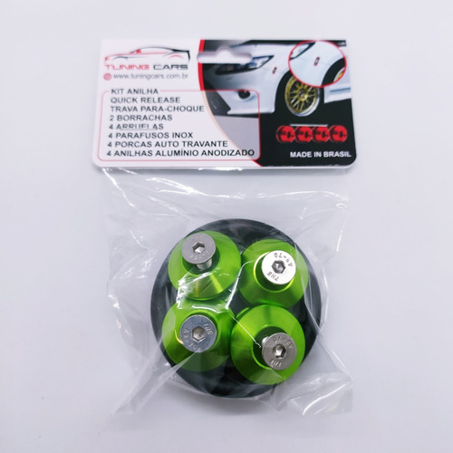 Kit Trava Parachoque Anilha Quick Release Rebaixado Tuning