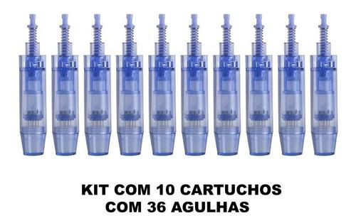 10 Agulhas Cartucho Caneta Derma Pen 12 36 42 Nano Pontas