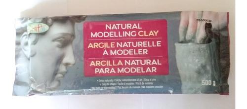 Arcilla Natural Para Modelar Grafto 500g No Requiere Cocción