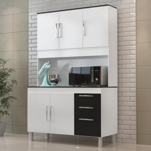Cozinha Compacta Gemeos 1,14m 5 Portas 3 Gav.