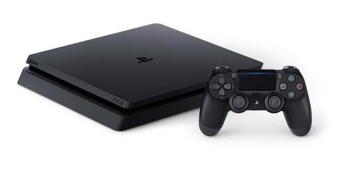 Sony Playstation 4 Slim 1tb Mega Pack: Ghost Of Tsushima/god Of War/ratchet & Clank Cor  Preto Onyx