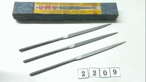 3 Limas Matriceras Planas Vallorbe Nuevas Mtlwrk 2417