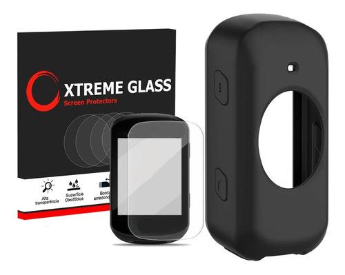 Capa Para Garmin Edge 530 830 Case Pelicula Xtreme Glass