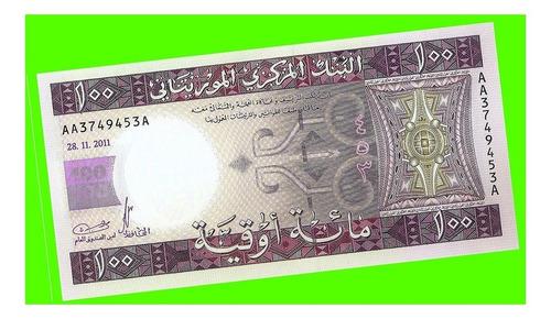 Mauritania - Billete 100 Ouguiya 2011 - Híbrido ¡ Sin Circ.!