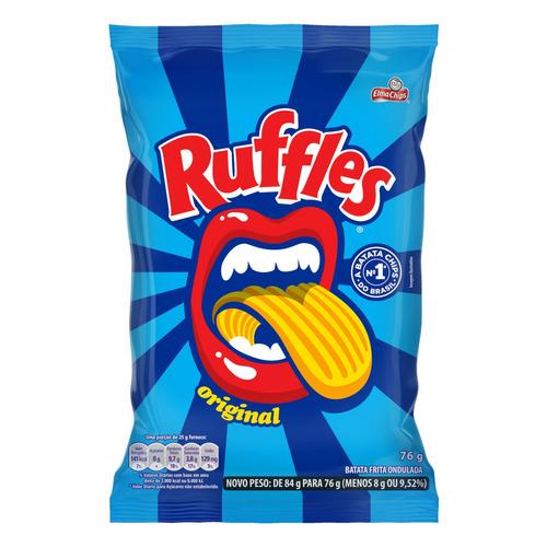 Batata Frita Ondulada Elma Chips Ruffles Original Sem Glúten 76 G