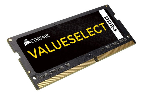 Memória Ram Value Select Color Preto  16gb 1x16gb Corsair Cmso16gx4m1a2133c15
