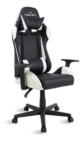 Cadeira Gamer Reclinável Quest Healer Preto/branco