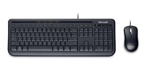 Microsoft Teclado E Mouse Com Fio Desktop 600 Usb Preto