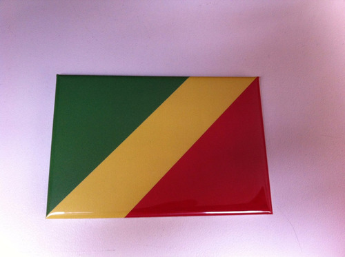 Ímã Da Bandeira Do Congo Original
