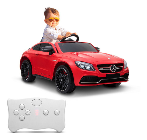 Carrinho Elétrico Infantil Mercedez Benz C63s Vermelho 12v