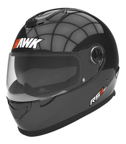 Casco Para Moto Integral Hawk Rs11  Negro Talle Xl