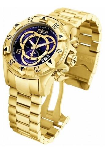 Relógio Invicta Excursion Banhado A Ouro Original