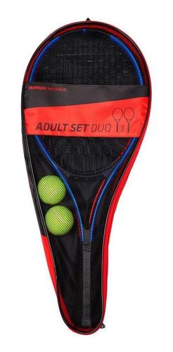 Kit Iniciação Tênis Adulto Duo (2 Raquetes 2 Bolas 1 Bolsa)