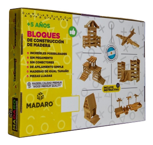 Juego Para Armar Construir Ingenio Bloques De Madera