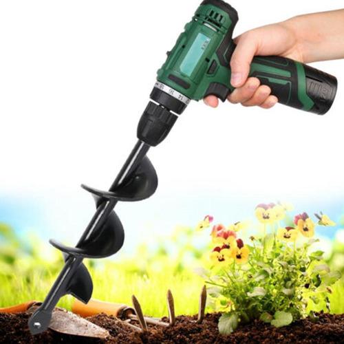 4*22cm Aço Jardinagem Ferramenta Broca Furo Furo Escavação R