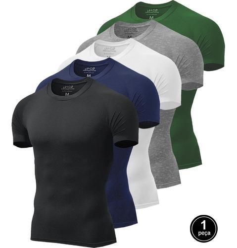 Camiseta Masculina Pro Fitness Treino Térmica C/ Proteção Uv
