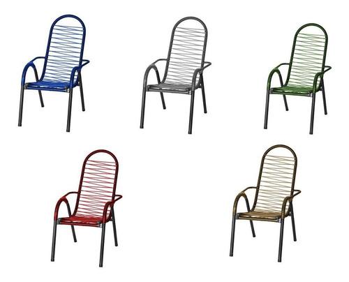 Cadeira De Varanda  De Área Cadeiras De Fio Colorido Dourada