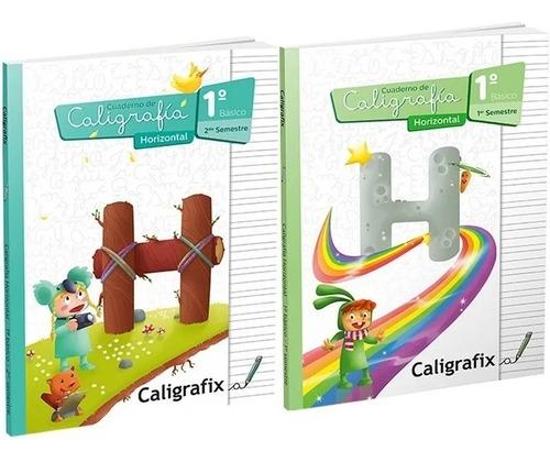 Pack Caligrafix Caligrafía Horizontal 1°básico 1er Y 2do Sem