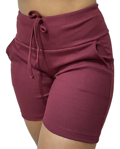 Kit 5 Shorts Feminino Bermuda Feminina Com Elastano Atacado