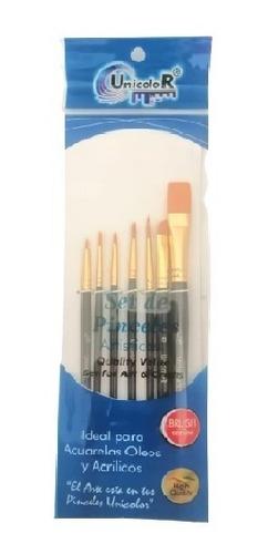 Pinceles Set X 7 Unidades - Oleo Pintura Acrílico