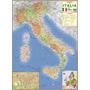 Mapa Itália Politico Rodoviario 120 X 90cm Gigante Dobrado