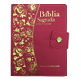 Bíblia Sagrada Média Letra Grande Com Harpa Feminina Pink