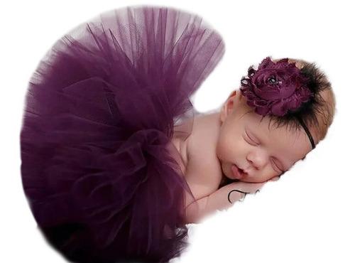 Saia Tutu Bailarina Fotografia Newborn Tiara De Brinde