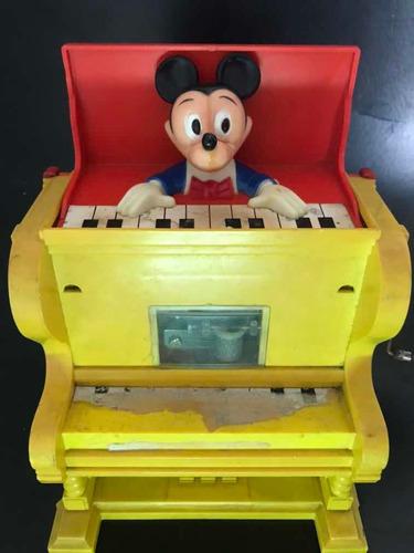 Piano Brinquedo Caixa De Música Disney Americano 1973