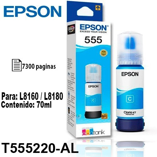 Tinta Epson T555 555 Cian Fotografica Original P/l8160/8180