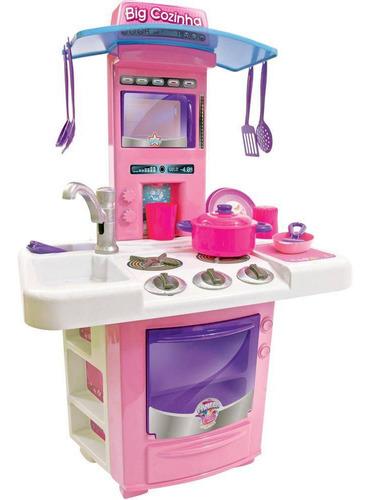 Grande Cozinha Infantil Com Acessórios Brinquedo Completa