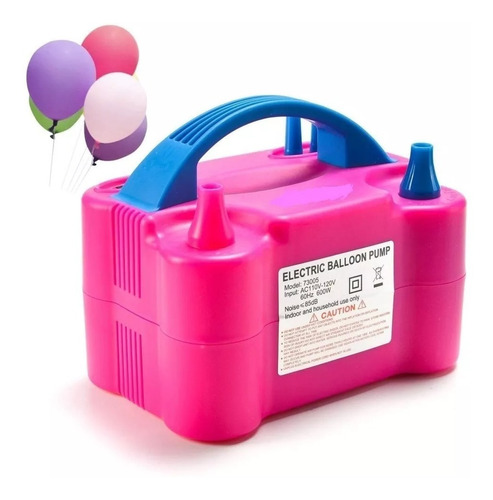 Inflador Compressor  Bomba Balões Bexigas 2 Bicos Festas