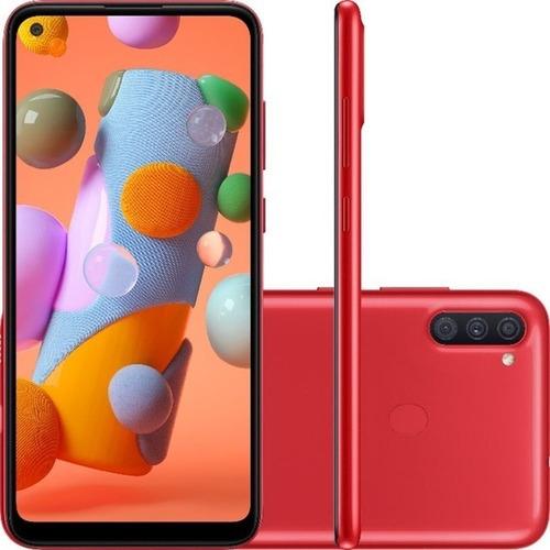 Smartphone Galaxy A11 64gb Vermelho  Samsung