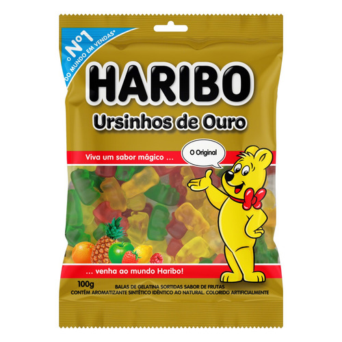 Bala Haribo Ursinhos De Ouro Frutas 100 G