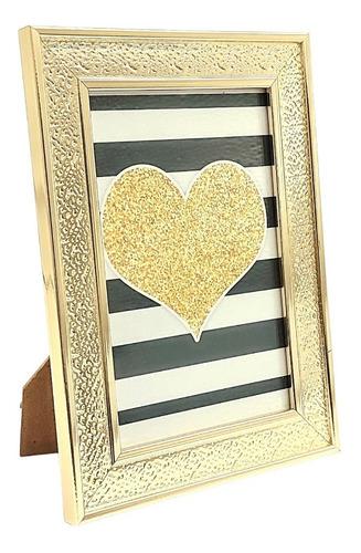 Porta Retrato 10x15 Gold Sala Quarto Escritório Tendência