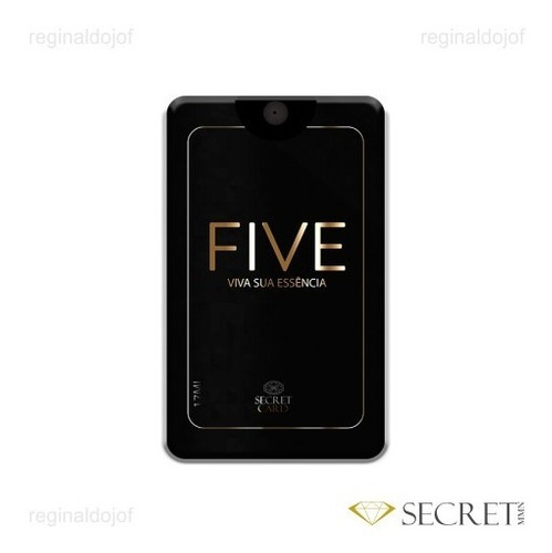 Five Perfume Feminino Em Card De Secret Card Parfum 17ml