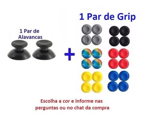 Xbox 360, Ps3, Ps4 1 Par De Alvanca + 1 Par Grip Borracha