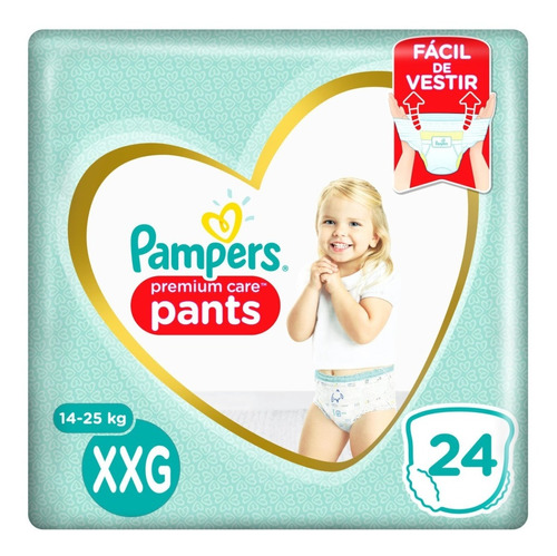 Fralda Pampers Pants Premium Care Xxg - 24 Unidades