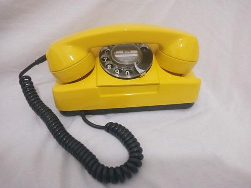 Telefone Antigo Gte De Disco Tijolinho De Mesa Retro