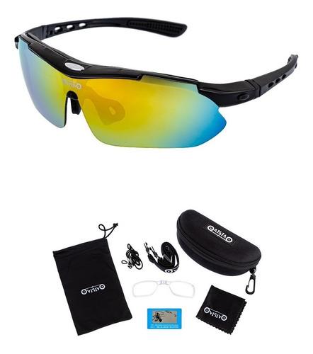 Óculos Ciclismo Ciclista Bike Mtb 5 Lentes + Suporte P/ Grau