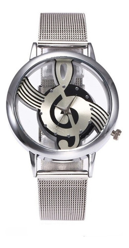 Reloj Nota Musical Correa De Malla Milanesa  Envio Gratuito