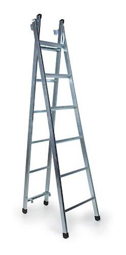 Escada Extensiva 6 Degraus 3 Em 1 Zincada - Frete Grátis