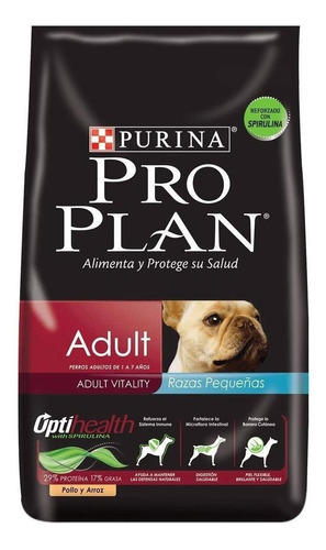 Alimento Pro Plan Optihealth Adult Para Perro Adulto De Raza Pequeña Sabor Pollo Y Arroz En Bolsa De 7.5kg
